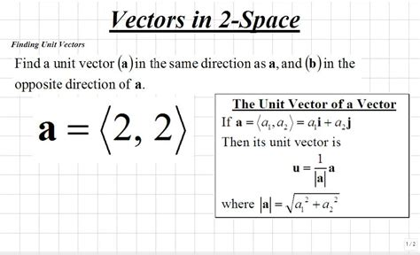 section formula vectors classroom calculus iii finding unit vectors video