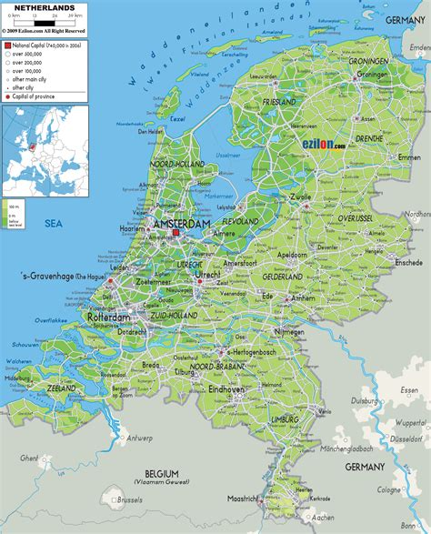 netherlands map images maps of detailed map of in