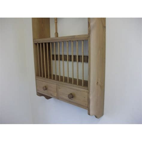 Pine Plate Racks For Kitchens by Pine Plate Rack With Spice Drawers W66cm