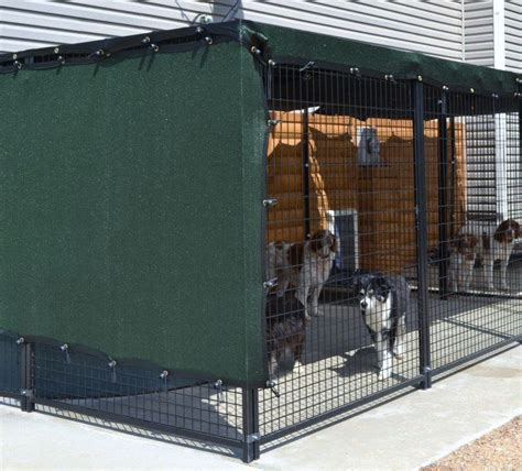 shade for dogs sylmar 5 ft x 10 ft solar kennel shade green 60 protection 79 95
