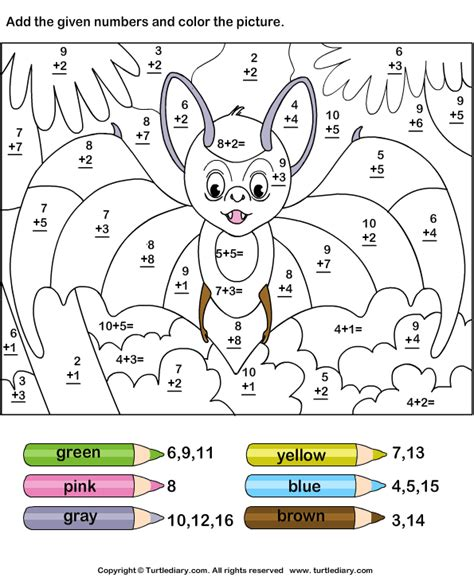 color addition free coloring pages