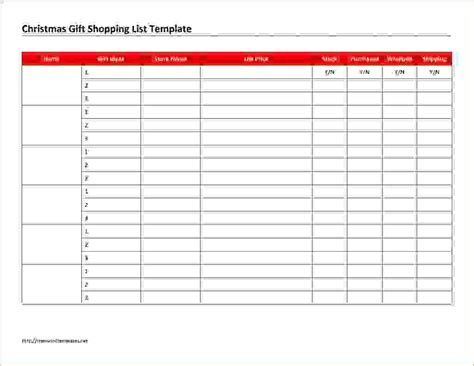 christmas list doc 5 gift list template procedure template sle