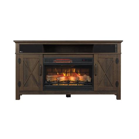 chimney free electric fireplace shop chimney free 56 in w 5200 btu midnight cherry wood
