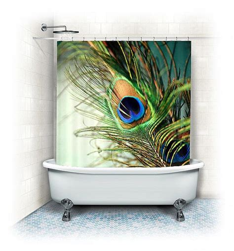 peacock bathroom ideas peacock feather fabric shower curtain quot teal peacock