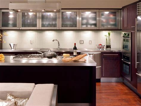 Modern Glass Kitchen Cabinets by 78 Great Looking Modern Kitchen Gallery Sinks Islands