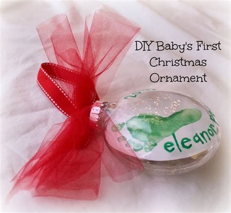 diy baby s first christmas footprint ornament for under