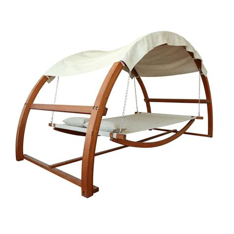 Hammock Swing Bed by Leisure Season Patio Swing Bed With Canopy Hammock Swing