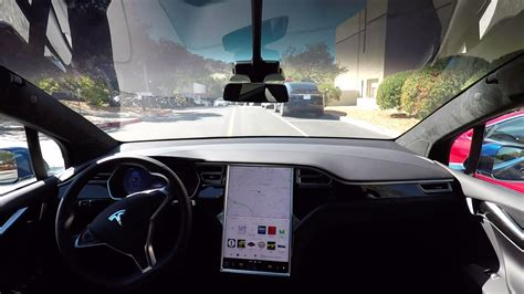 Tesla Model S Autonomy αυτόνομο Tesla οδηγεί από το σπίτι στη δουλειά μόνο του