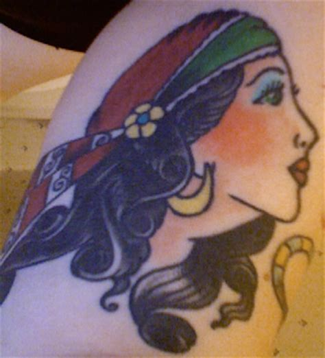 gypsy head tattoo design pictures tattoos