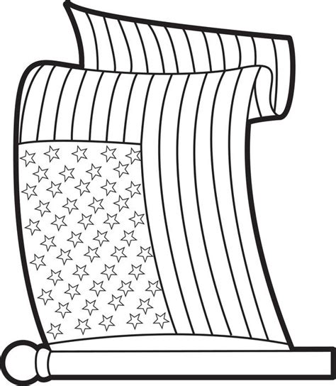 american flag printable coloring pages