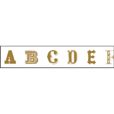 Mt Masking Alphabet A M mt masking alphabet gold