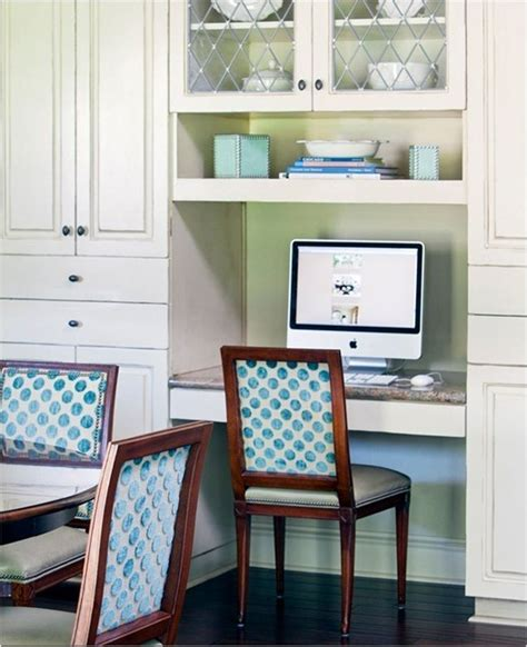 Small Kitchen Desk Small Space Solutions Home Offices Centsational