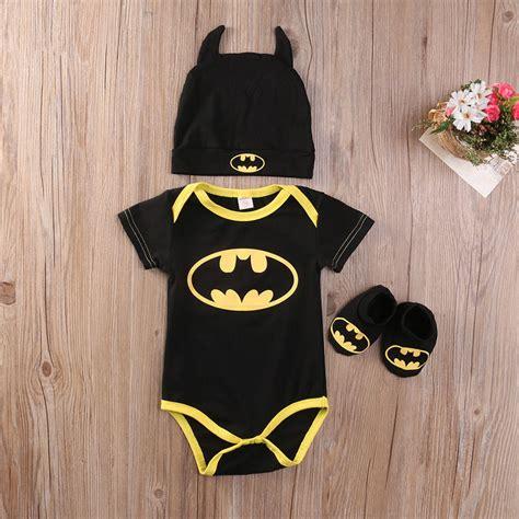 Romper Batman 1 Set black yellow batman booties set infant new batman romper