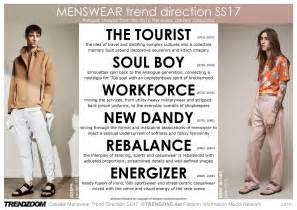 upcoming trends 2017 trendzoom catwalk menswear trend direction ss 2017