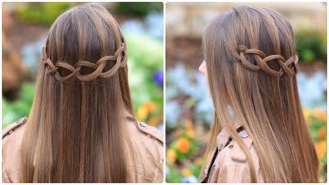 create  loop waterfall braid cute girls hairstyles