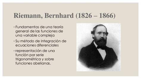 bernhard riemann aportaciones l 237 nea del tiempo de calculo integral