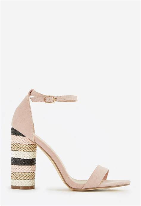 Cyl Best Seller Sandal Wedges Sn42 Hitam salona cylinder heel shoes in blush get great deals at justfab