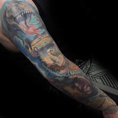 jurassic park tattoo designs  men dinosaur ink ideas