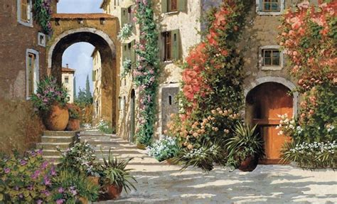italian street tuscany tuscan breezeway  wallpaper