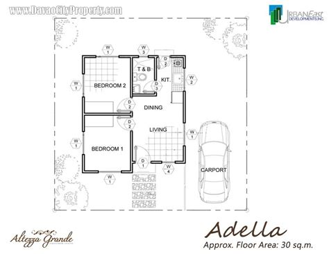 low cost housing floor plans adella 2 bedrooms 1 toilet bath at altezza grande
