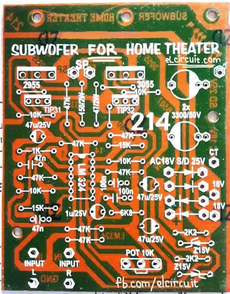 pcb layout work from home pcb layout subwoofer home theater todo electronica