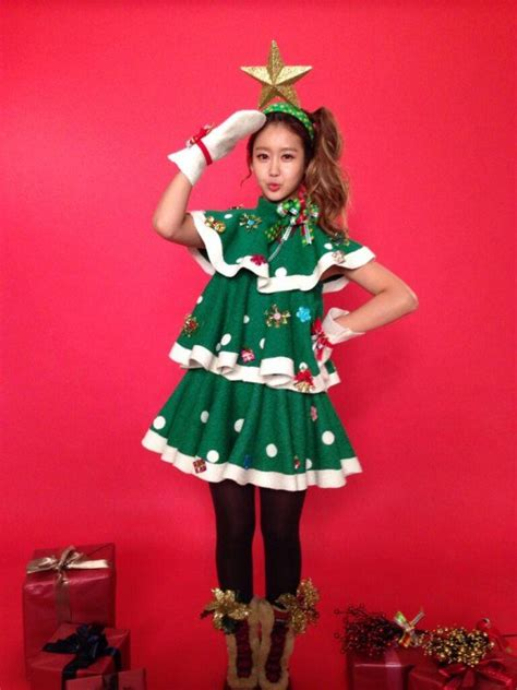 christmas party dress themes crayon pop dress up as trees for their upcoming carol allkpop