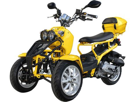 50ccm Motorrad Roller by Limited Edition 50cc Ruckus Style Reverse Trike
