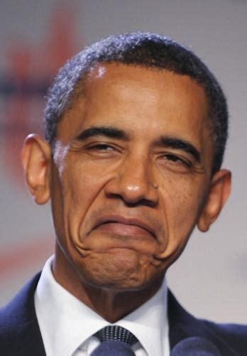 Obama Face Meme - obamas funny face blank template imgflip