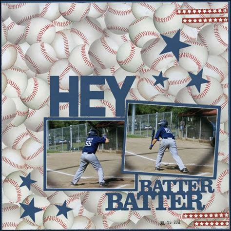 scrapbook layout baseball 1000 images about scrap booking sports on pinterest