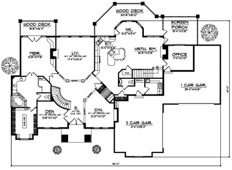 luxury style house plans 5282 square foot home 1 story