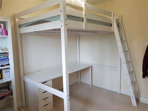 for sale ikea stora white loft cabin bed including