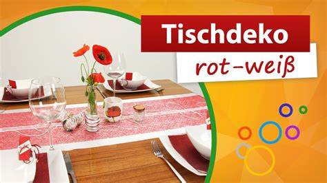 tischdeko rot weiß kariert tischdeko rot wei 223 tischdekoration trendmarkt24 youtube