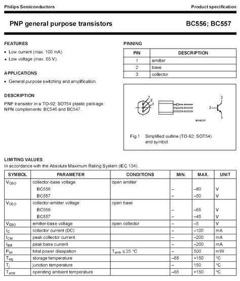 Bc557 C Philips bc557 pnp