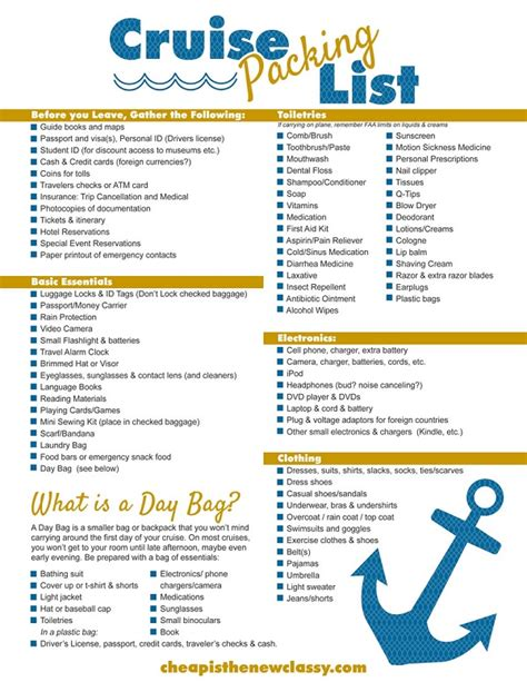 printable cruise travel checklist free printable cruise packing list cheap is the new classy