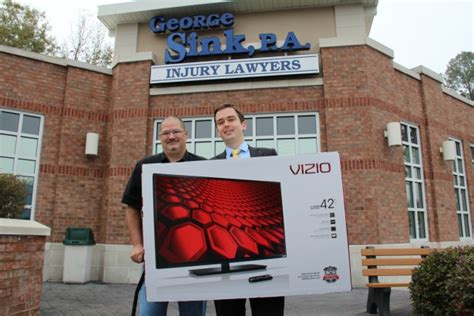 george sink injury lawyers george sink p a injury lawyers announces winner of tv