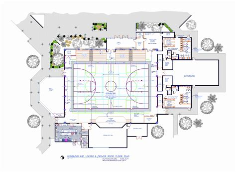 gymnasium floor plan spanish river christian school 171 romberger assoc