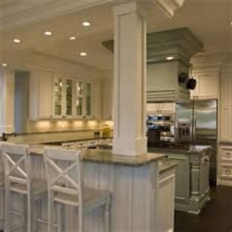 Kitchen Peninsula With Column 1000 Images About Kitchen Islands With Support On
