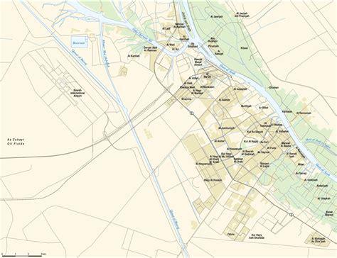 where is basra on a map map of basra mapsof net