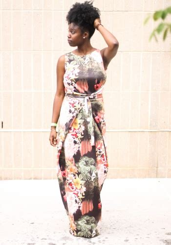 Dress Chiressy Batik wrapped in flowers by project sewing dresses kollabora