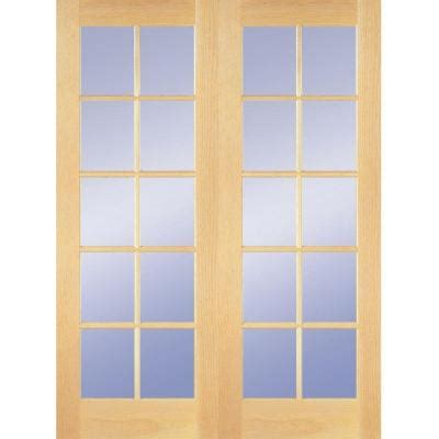Home Depot Interior Double Doors Builder S Choice 48 In X 80 In 10 Lite Clear Wood Pine