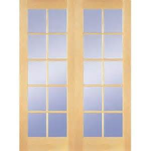 French Doors Home Depot Interior by Builder S Choice 48 In X 80 In 10 Lite Clear Wood Pine
