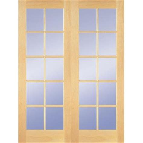 home depot interior french door builder s choice 48 in x 80 in 10 lite clear wood pine