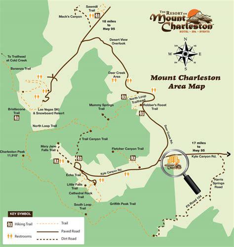 charleston map mt charleston map afputra
