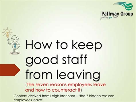 7 Reasons To Leave A Bad by Seven Reasons Staff Leave How To Keep Staff From