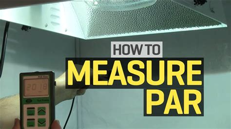 how to measure light in a room how to use a par meter to measure light levels in your grow room