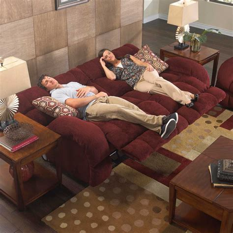 laid on the couch catnapper siesta lay flat reclining sofa set wine cn