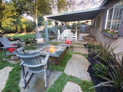 Diynetwork Yard Crashers Sweepstakes - yard crashers sitting area with fire pit photos diy