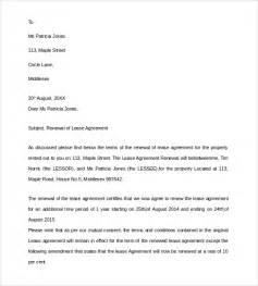 Renewal Of Lease Agreement Letter Sle Lease Renewal Letter 9 Free Documents In Pdf Word