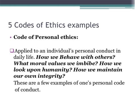 personal code of conduct template pics for gt personal code of ethics template