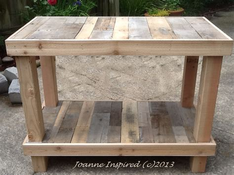 Pallet project kitchen island work table joanne inspired